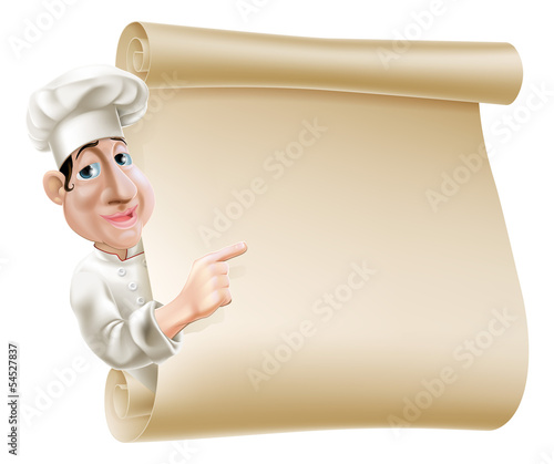 Chef scroll menu illustration