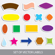 set of various vector labels