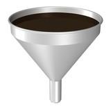 Trichter mit Öl, Filtersymbol