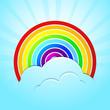 Regenbogen mit Himmel und Wolken - 54530213