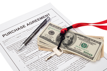Property investment with purchase agreement