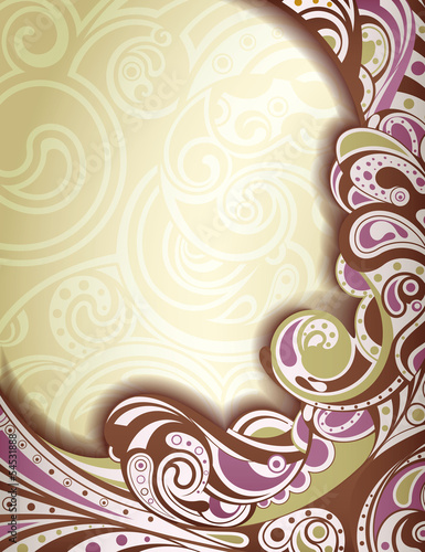 Abstract Lavender Curve Background