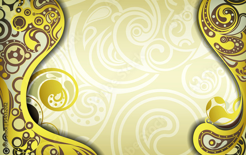 Abstract Curve Frame Background