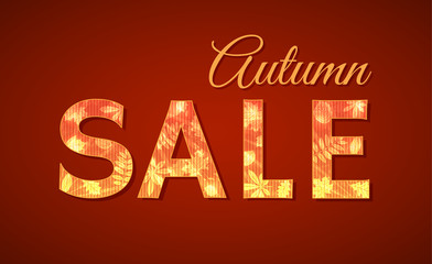 Sale sign for autumn season