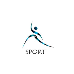 Спортивный логотип, бег