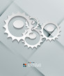 Vector paper gear modern design