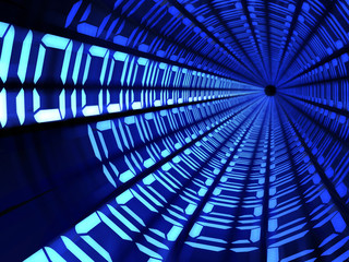 Binary code tunnel