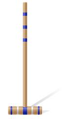 croquet mallet vector illustration