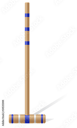 croquet mallet vector illustration