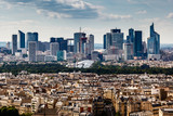 Aerial View on La Defense and its Scyscrapers in Paris, France - Fine Art prints