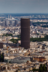 Aerial View on Paris and Montparnasse from Eiffel Tower, France
