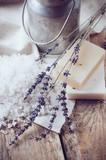 Fototapety Natural soap, lavender, salt, cloth