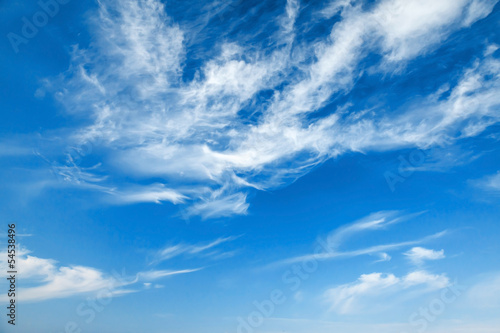 canvas print picture Natural blue cloudy sky background texture