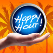Happy Hour! Button, Icon