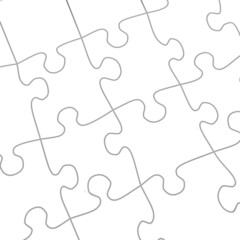 Puzzle white abstract background