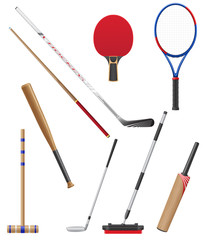 bits and stick to sports vector illustration