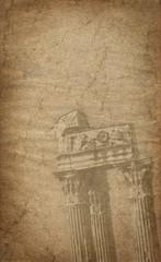 Old greek column
