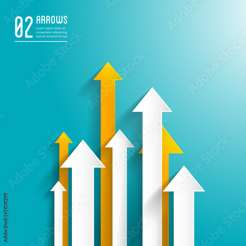 paper arrows background - graphic design template