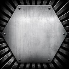 hexagon iron background