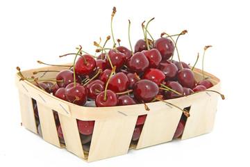 Panier de cerises fraîches