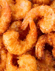 Delicious tempura (deep fried prawn)