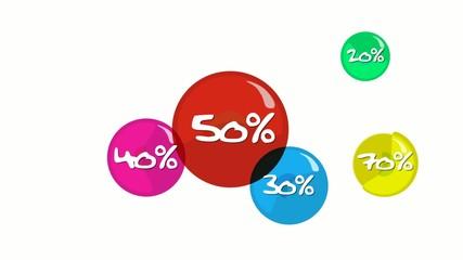 Animation étiquettes soldes rentrée de couleur 50%