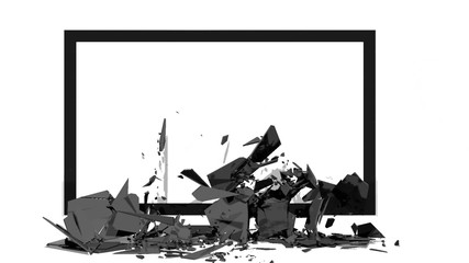 TV screen explodes