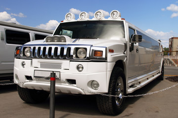 The big white limousine