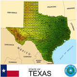 Texas USA counties name location map background