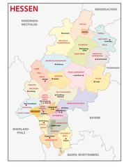 Hessen, Landkreise