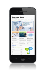 Business media on modern smartphone