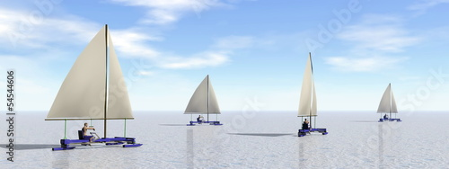 Ice sailing - 3D render