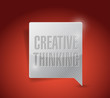 creative thinking message illustration