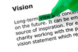 The word Vision highlighted in green
