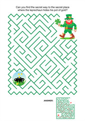Maze game - leprechaun and pot of gold