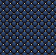 Seamless deep blue velvet embroidered by pearl grid.