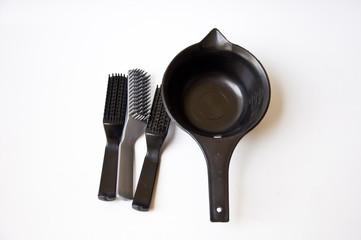 Black comb and black bucket