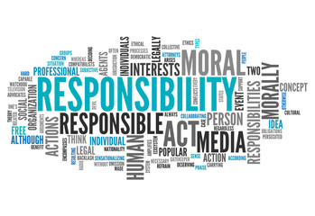 "Word Cloud ""Responsibility"""