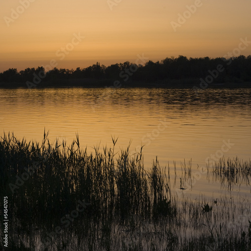 Sunset on the River Don in the summer, Russia