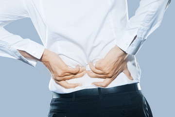 Man with dorsal pain