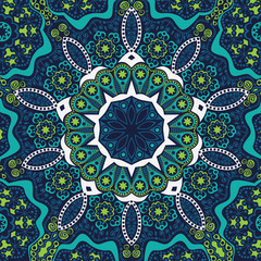ornamental lace pattern, circle background with many details, lo