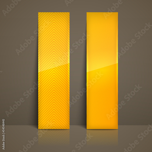 set of yellow striped banners