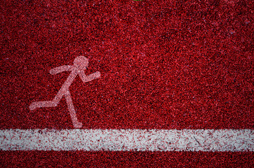 texture of running track