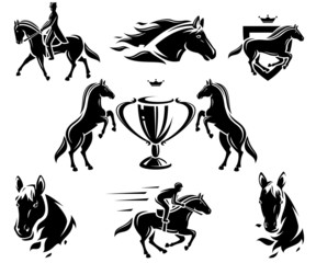 Horse set. Vector