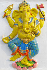 Ganesha stand on a lotus