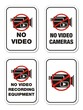 no video cameras signs