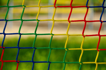 Blue, yellow, green, red of netting