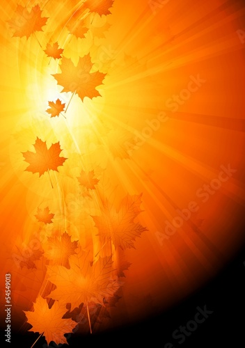 Colourful abstract autumn background