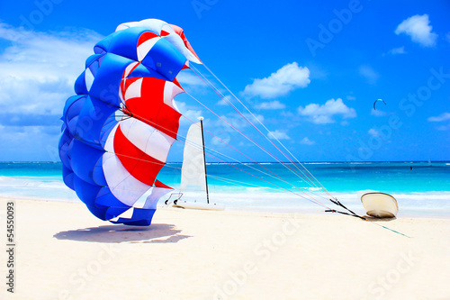 Parasailing in the tropics