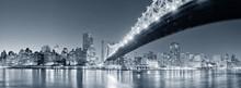 Fototapete - New York City night panorama